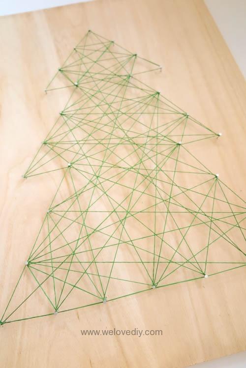 DIY Christmas Tree String Art 特力屋聖誕樹繩線藝術裝飾備忘板 (11)