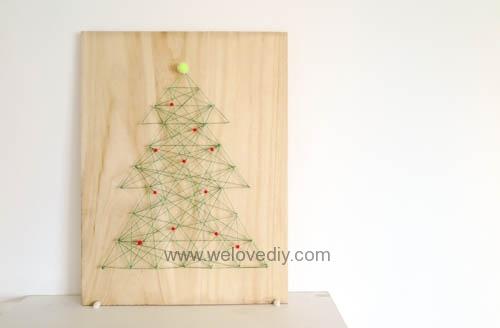 DIY Christmas Tree String Art 特力屋聖誕樹繩線藝術裝飾備忘板 (16)