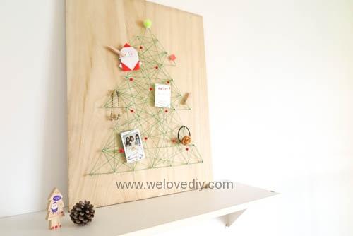 DIY Christmas Tree String Art 特力屋聖誕樹繩線藝術裝飾備忘板 (20)