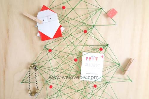 DIY Christmas Tree String Art 特力屋聖誕樹繩線藝術裝飾備忘板 (22)