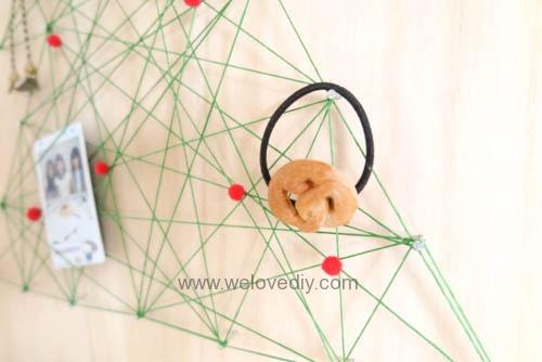 DIY Christmas Tree String Art 特力屋聖誕樹繩線藝術裝飾備忘板 (23)