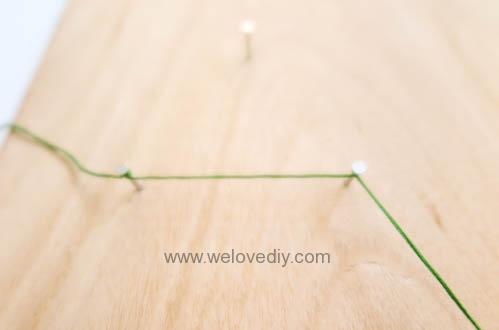 DIY Christmas Tree String Art 特力屋聖誕樹繩線藝術裝飾備忘板 (9)