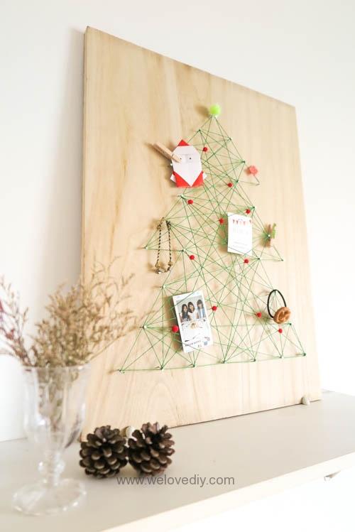 DIY Christmas Tree String Art 特力屋聖誕樹繩線藝術裝飾備忘板