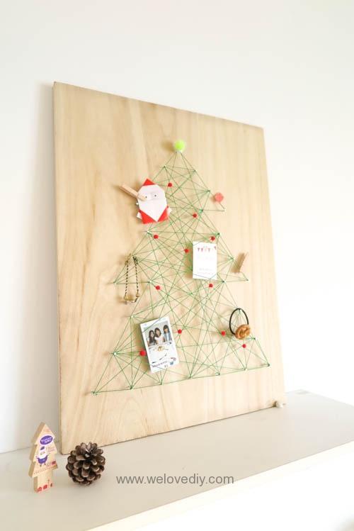 DIY Christmas Tree String Art 聖誕節特力屋聖誕樹繩線藝術裝飾備忘板