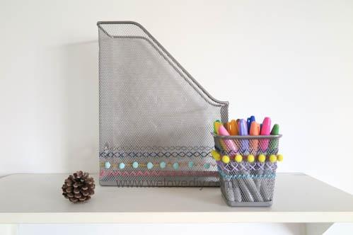 DIY IKEA Hack DOKUMENT 宜家家居雜誌匣繡線手作裝飾 (2)