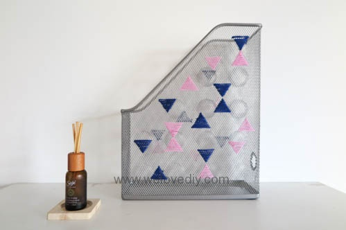 DIY IKEA Hack DOKUMENT 宜家家居雜誌匣繡線手作裝飾 (3)