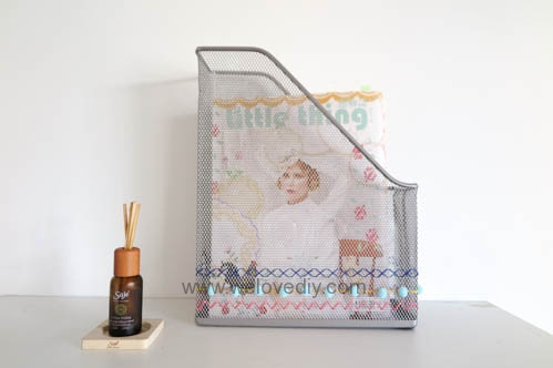DIY IKEA Hack DOKUMENT 宜家家居雜誌匣繡線手作裝飾 (4)