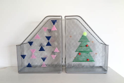 DIY IKEA Hack DOKUMENT 宜家家居雜誌匣繡線手作裝飾 (5)