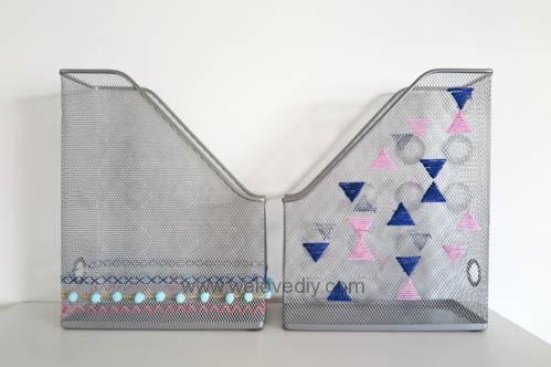 DIY IKEA Hack DOKUMENT 宜家家居雜誌匣繡線手作裝飾 (7)