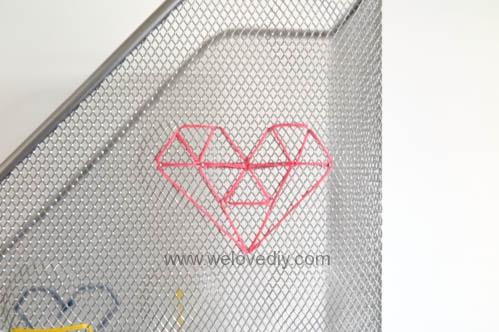 DIY IKEA Hack DOKUMENT 宜家家居雜誌匣繡線手作裝飾 (9)