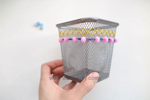 DIY IKEA Hack DOKUMENT 筆筒繡線手作刺繡裝飾 (10)