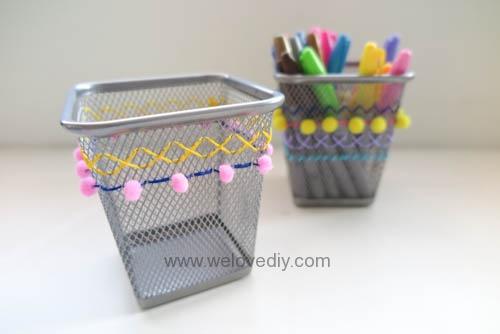 DIY IKEA Hack DOKUMENT 筆筒繡線手作刺繡裝飾 (12)