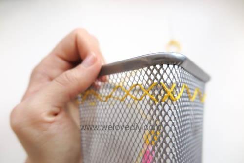 DIY IKEA Hack DOKUMENT 筆筒繡線手作刺繡裝飾 (3)