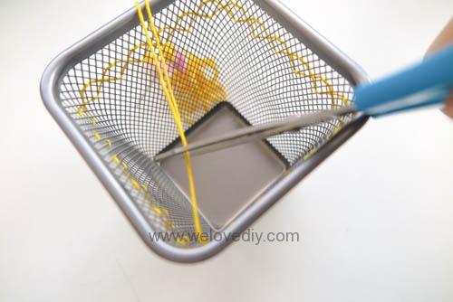 DIY IKEA Hack DOKUMENT 筆筒繡線手作刺繡裝飾 (4)