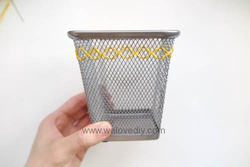 DIY IKEA Hack DOKUMENT 筆筒繡線手作刺繡裝飾 (6)