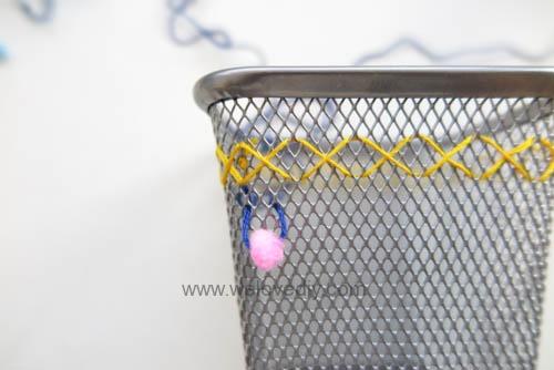DIY IKEA Hack DOKUMENT 筆筒繡線手作刺繡裝飾 (8)
