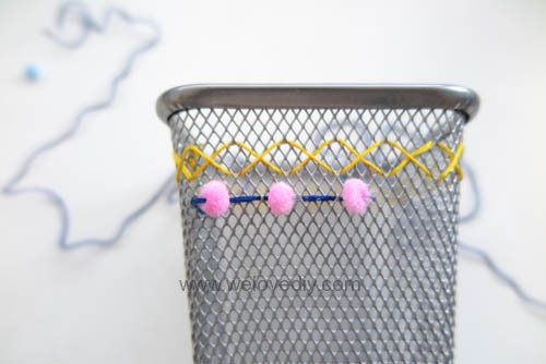DIY IKEA Hack DOKUMENT 筆筒繡線手作刺繡裝飾 (9)