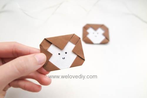 DIY 新年春節猴年小猴子摺紙親子手作教學 (1)