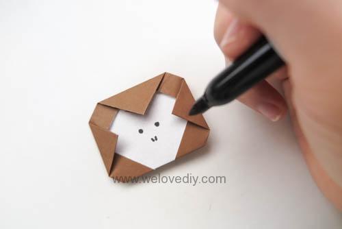 DIY 新年春節猴年小猴子摺紙親子手作教學 (6)