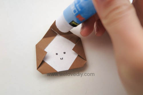 DIY 新年春節猴年小猴子摺紙親子手作教學 (7)