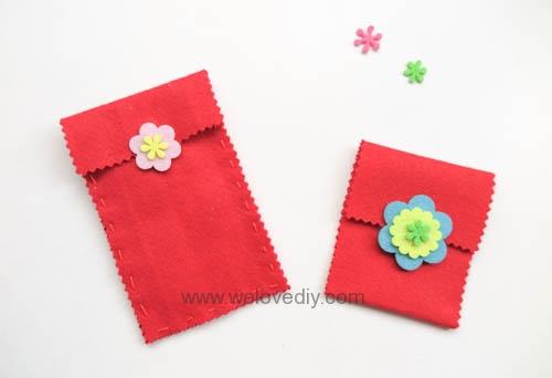 DIY 春節親子手作不織布紅包袋 DAISO 大創材料 (11)