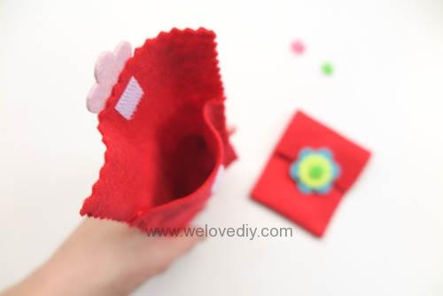 DIY 春節親子手作不織布紅包袋 DAISO 大創材料 (14)