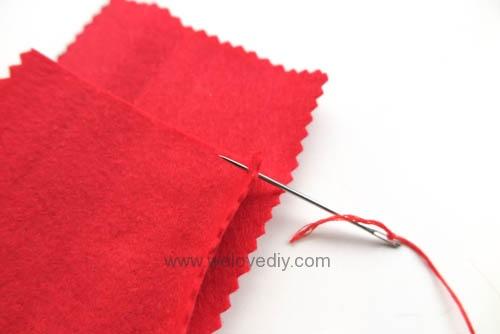 DIY 春節親子手作不織布紅包袋 DAISO 大創材料 (4)