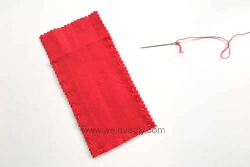 DIY 春節親子手作不織布紅包袋 DAISO 大創材料 (5)