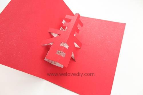 DIY 春節農曆新年春字 3D 立體手工卡片 (12)