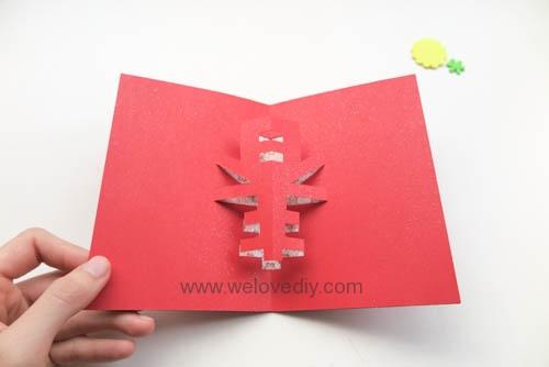 DIY 春節農曆新年春字 3D 立體手工卡片 (13)