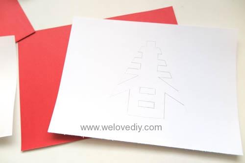 DIY 春節農曆新年春字 3D 立體手工卡片 (3)