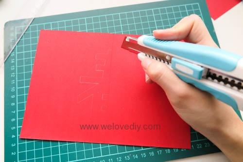 DIY 春節農曆新年春字 3D 立體手工卡片 (5)