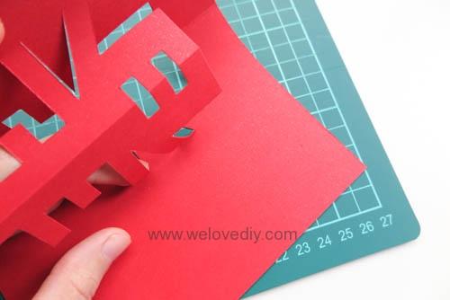 DIY 春節農曆新年春字 3D 立體手工卡片 (6)