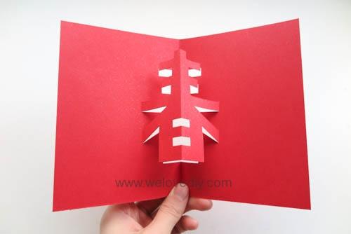 DIY 春節農曆新年春字 3D 立體手工卡片 (8)