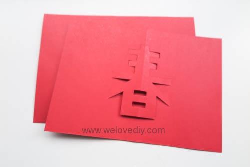DIY 春節農曆新年春字 3D 立體手工卡片 (9)