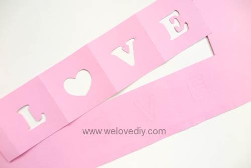 DIY iCRAFT 手作拼貼切割機情人節 LOVE 愛心紙做燈罩 (2)
