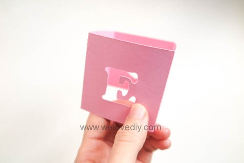 DIY iCRAFT 手作拼貼切割機情人節 LOVE 愛心紙做燈罩 (4)