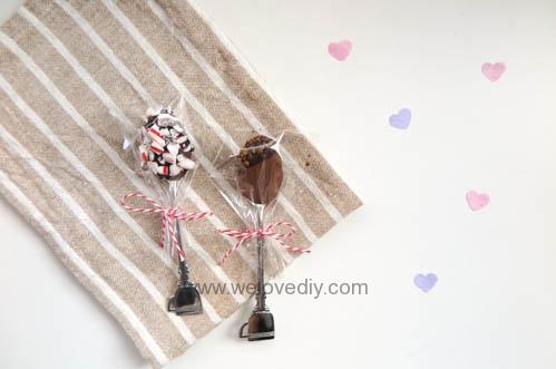 DIY Hot Chocolate Spoon 婚禮小物 情人節 熱可可咖啡巧克力湯匙 (1)