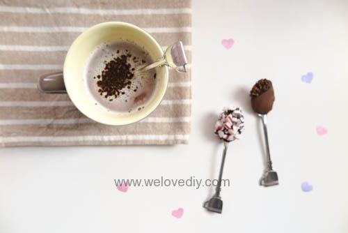 DIY Hot Chocolate Spoon 婚禮小物 情人節 熱可可咖啡巧克力湯匙 (22)