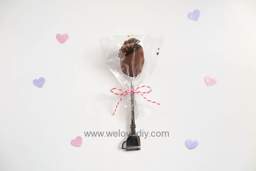 DIY Hot Chocolate Spoon 婚禮小物 情人節 熱可可咖啡巧克力湯匙 (25)