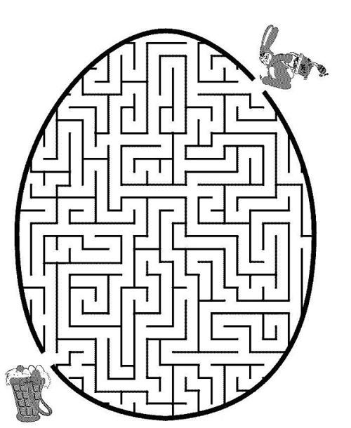 復活節小朋友親子著色畫迷宮