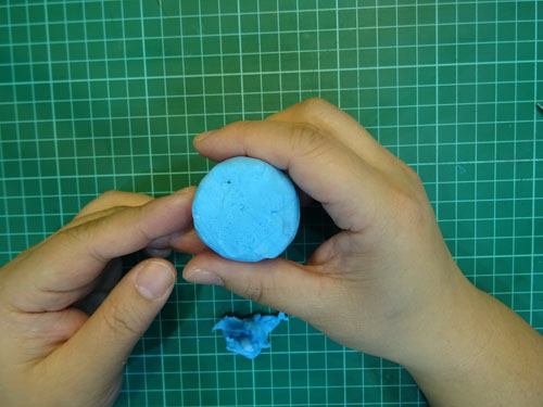DIY 小海獅黏土留言夾 胖蝴蝶的手作花園 (10)