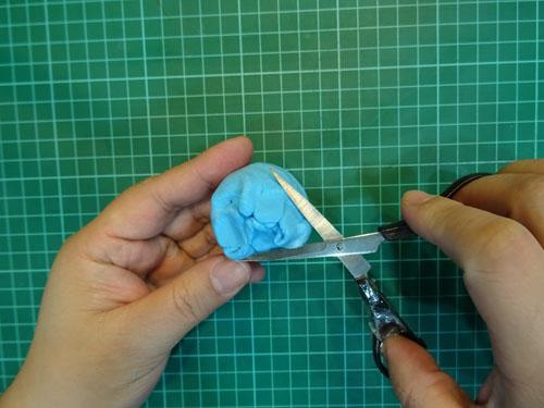 DIY 小海獅黏土留言夾 胖蝴蝶的手作花園 (9)