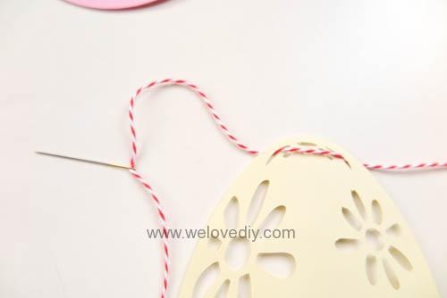 DIY 復活節彩蛋紙做吊飾 iCRAFT 手作拼貼切割機 (9)