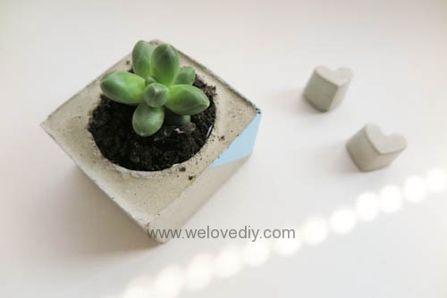 DIY 手作水泥容器燭台盆栽工業風家居擺飾 (19)
