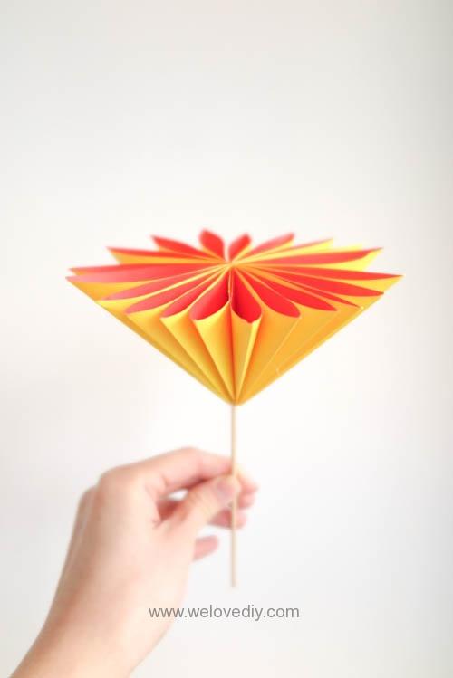 DIY 花朵摺紙教學 (2)