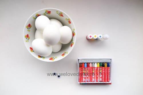 DIY Minions Easter Eggs 復活節小小兵蠟筆染色彩蛋 (1)