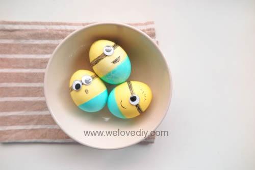 DIY Minions Easter Eggs 復活節小小兵蠟筆染色彩蛋 (11)