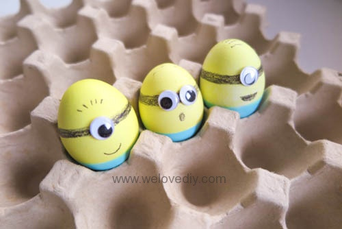 DIY Minions Easter Eggs 復活節小小兵蠟筆染色彩蛋 (13)