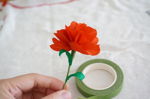 DIY 母親節手作皺紋紙康乃馨 HAO HUO 好貨 (13)